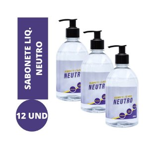 Sabonete Líquido Neutro kit 12und 500ml Atacado