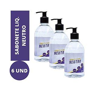 Sabonete Líquido Neutro kit 6und 500ml Atacado