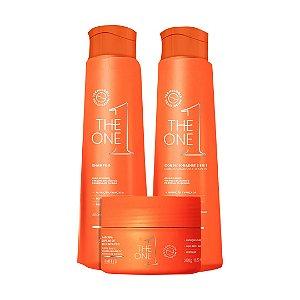 KIT THE ONE (shampoo 300ml, condicionador 300ml e máscara 250g)