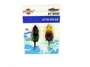 Isca Silicone Rato 02359 Cartela c/ 2 Unidades - Otonni