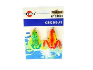 Isca Silicone Sapo 02363 Cartela c/ 2 Unidades - Ottoni