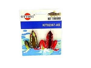 Isca Silicone Sapo 02367 Cartela c/ 2 Unidades - Ottoni