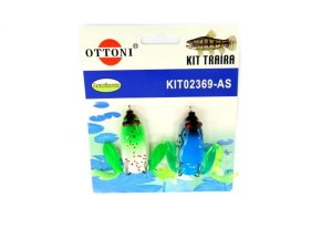 Isca Silicone Sapo 02369 Cartela c/ 2 Unidades - Ottoni