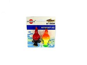 Isca Silicone Pato 02387 Cartela c/ 2 Unidades - Ottoni