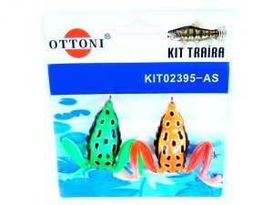 Isca Silicone Sapo 02395 Cartela c/ 2 Unidades - Ottoni
