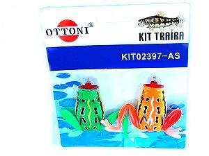 Isca Silicone Sapo 02397 Cartela c/ 2 Unidades - Ottoni