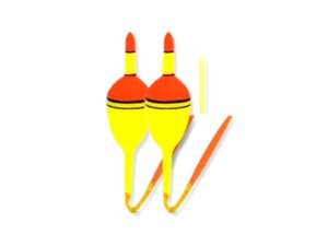 Boia Plástica Tilápia N.7 Cartela c/ 2 Unidades - Bóias Barão