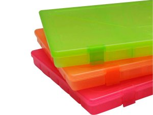 Estojo c/ Travas e 23 Divisórias Color Fluor - Rochel Pesca