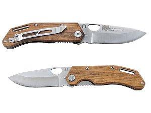 Canivete Brown Horse Inox Cabo de Madeira c/ Clip - Cimo