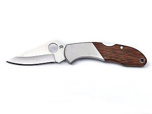 Canivete Heeler Inox Cabo de Madeira c/ Clip - Cimo