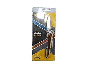 Canivete Gecko Inox Cabo de Acrilato Ambar - Cimo