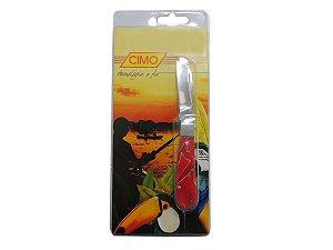 Canivete Inox Cabo de Acrílico c/ Clip Cores Sortidas - Cimo