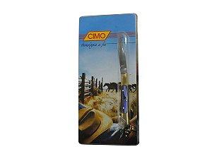 Canivete Inox 330/6 Cabo de Latão c/ Acrílico Cores Sortidas - Cimo