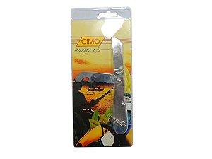 Canivete Inox c/ Lâmina Dupla Cabo de Inox - Cimo