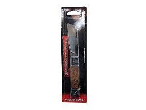 """Canivete Tradicional Cabo de Alumínio e Madeira 3 1/4"""" - Bianchi"""
