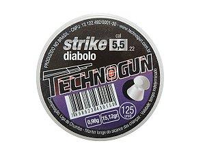 Chumbinho Strike 5,5mm c/ 125 Unidades - Technogun