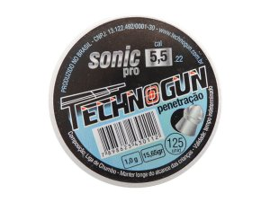 Chumbinho Sonic Pro 5,5mm c/ 125 Unidades - Technogun