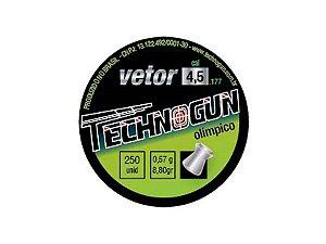 Chumbinho Vetor 4,5mm c/ 250 Unidades - Technogun