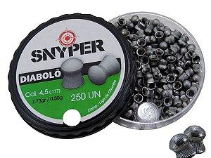 Chumbinho Diabolô 4,5mm c/ 250 Unidades - Snyper
