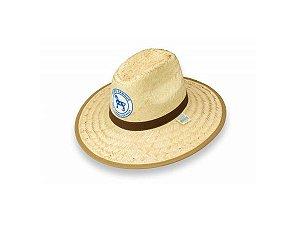 Chapéu de Palha Esmeralda Texano c/ Emblema - Icel