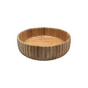 Bowl Bambu Canelado Grande 22 cm - Oikos