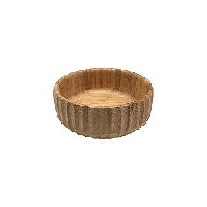 Bowl Bambu Canelado Médio 19 cm - Oikos