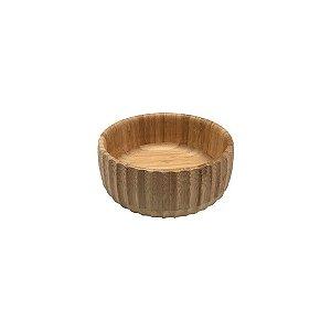 Bowl Bambu Canelado Pequeno 15 cm - Oikos