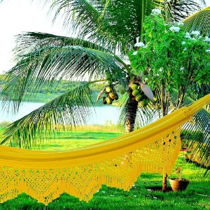 Rede Casal Luxo cor Amarela