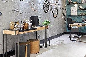 Piso Laminado Eucafloor New Elegance encaixe 2G novo CLICK Sbiancato- preço por caixa com 2,77 m²