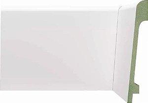 Rodapé de sobrepor Branco em MDF 15cm ULTRA sem friso moderno - preço por barra com 2,10 metros lineares * com vão para passar fio