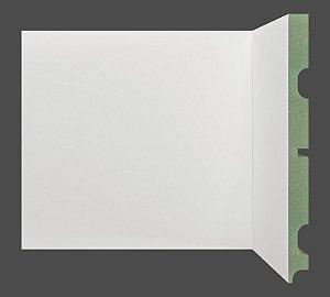 Rodapé e Guarnição Branco em MDF 20cm ULTRA sem friso moderno - preço por barra com 2,40 metros lineares * com vão para passar fio