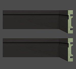 Rodapé e Guarnição MDF Ultra 07 cm 702 resistente à umidade BLACK / PRETO - preço por barra com 2,40 metros lineares