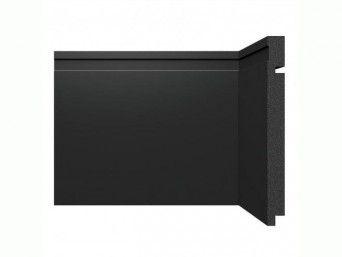 Rodapé Santa Luzia 20cm preto modelo 3505 - preço por barra com 2,40 metros lineares