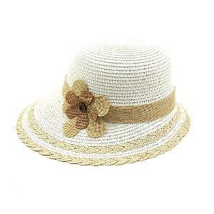 Chapéu Marfim com Flor