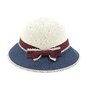 Chapéu de Praia com Renda e Laço Marsala