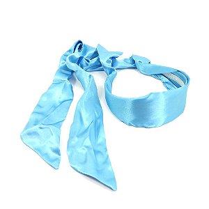 Tiara em Cetim Azul