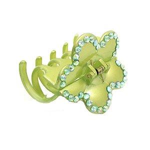 Piranha Verde Flor com Pedrinhas