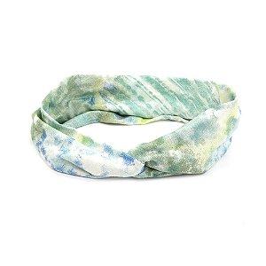 Headband Turbante em Tons de Verde