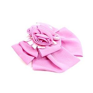 Presilha com Laço e Flores Rosa
