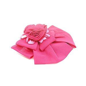 Presilha com Laço e Flores Pink