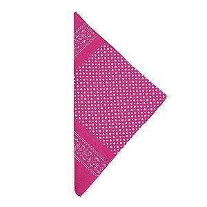Lenço Tipo Bandana Pink com Bolinhas