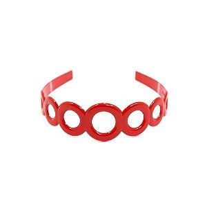 Tiara de Argolas Vermelha