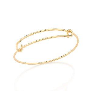 Bracelete Dourado Liso Rommanel