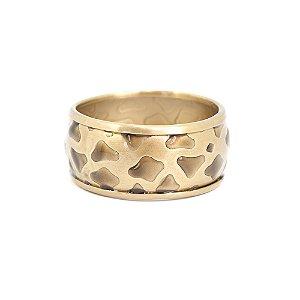 Pulseira Bracelete Ouro Velho com Detalhes