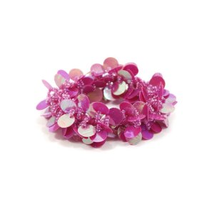 Scrunchie Rosa Pink com Paetê