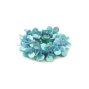 Scrunchie Azul com Paetê