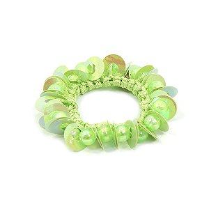 Scrunchie Verde de Paetê