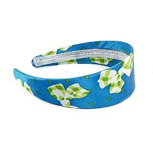 Tiara Azul com Desenho de Laço