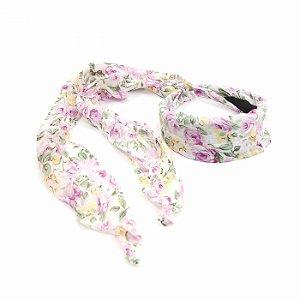 Tiara Floral Branca