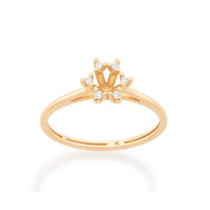 Anel Skinny Ring Estilizado Rommanel